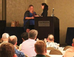 Stacey Marcell Accepts TCIA Award